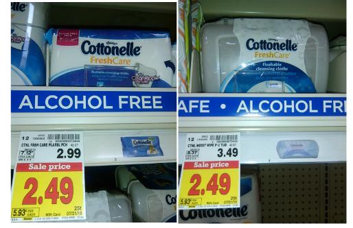 Fry S Cottonelle Scott Toilet Paper 3 61 Free Flushable Wipes