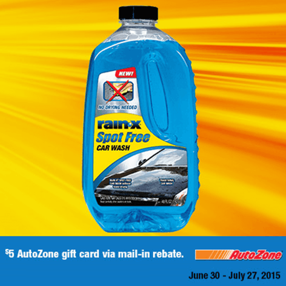 AutoZone: FREE $5 Gift Card with Rain-X Spot Free Car Wash Purchase