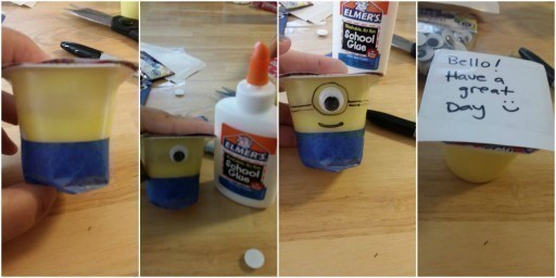 Minion Yogurts for the Lunchbox