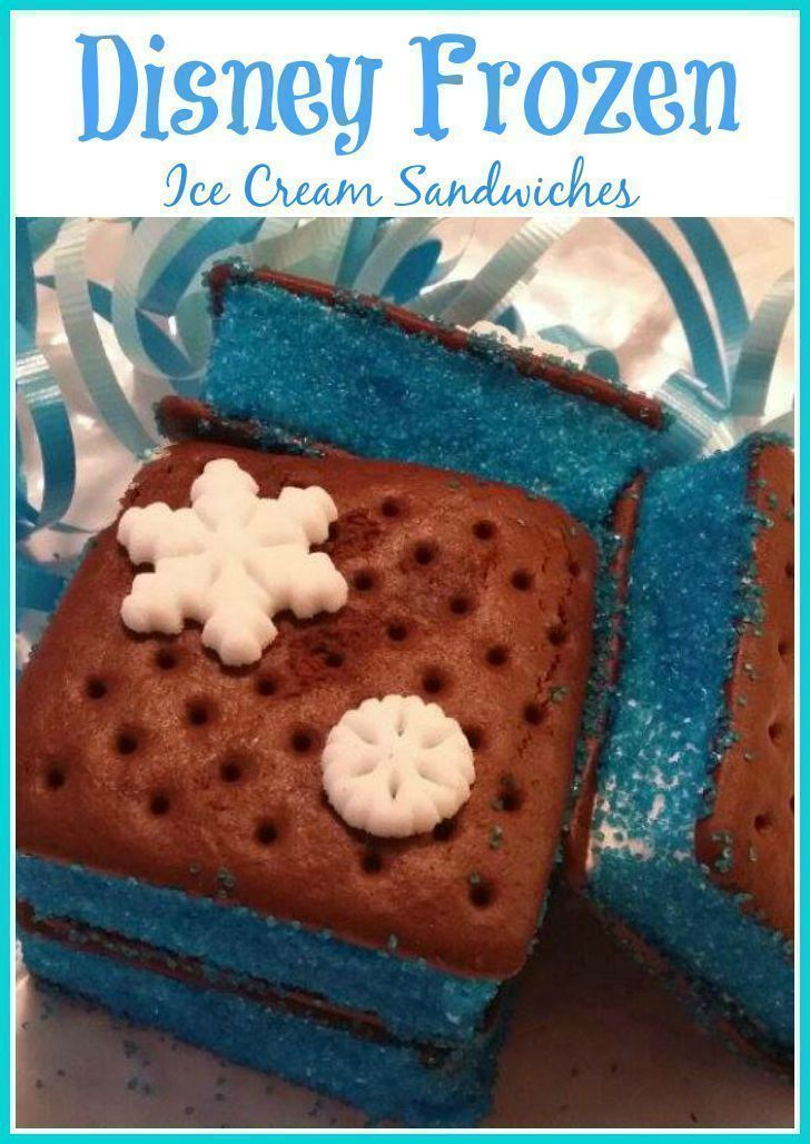 Disney Frozen Inspired Ice Cream Sandwiches {Great for Parties!}