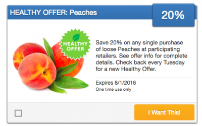 Fresh Produce Coupon | 20% OFF Loose Peaches