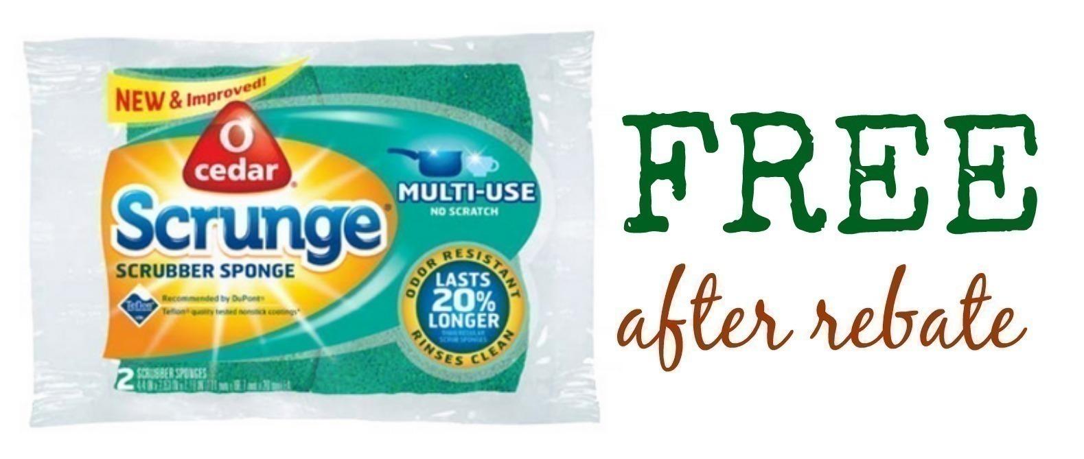 FREE O Cedar Scrunge Scrubber Sponge {After Rebate}