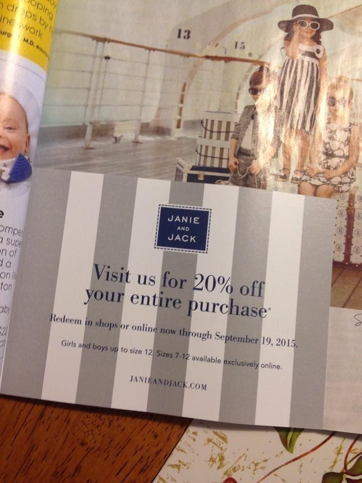 Past Janie and Jack Coupon Codes