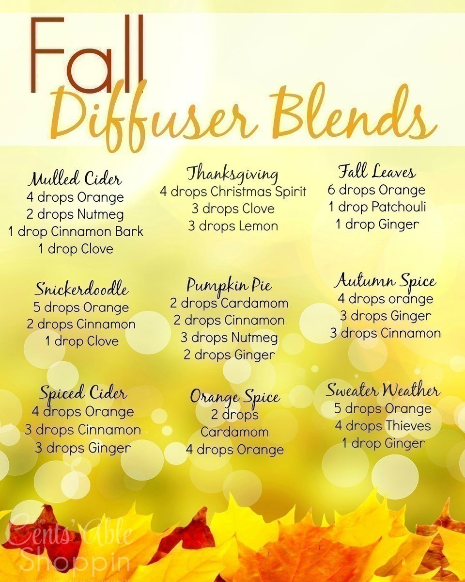 Fall Diffuser Blends to Enjoy