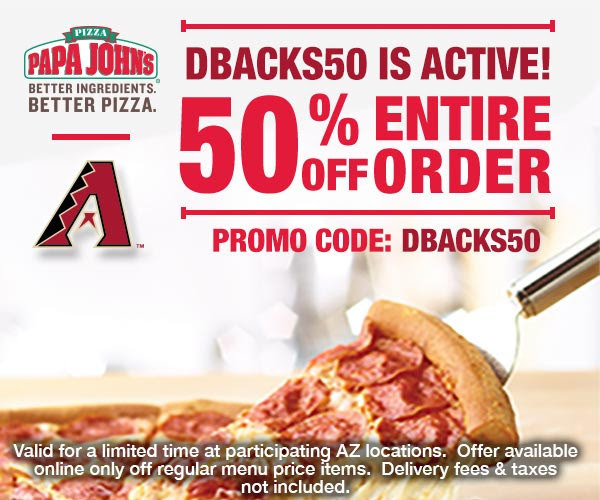 Papa johns coupon code 50