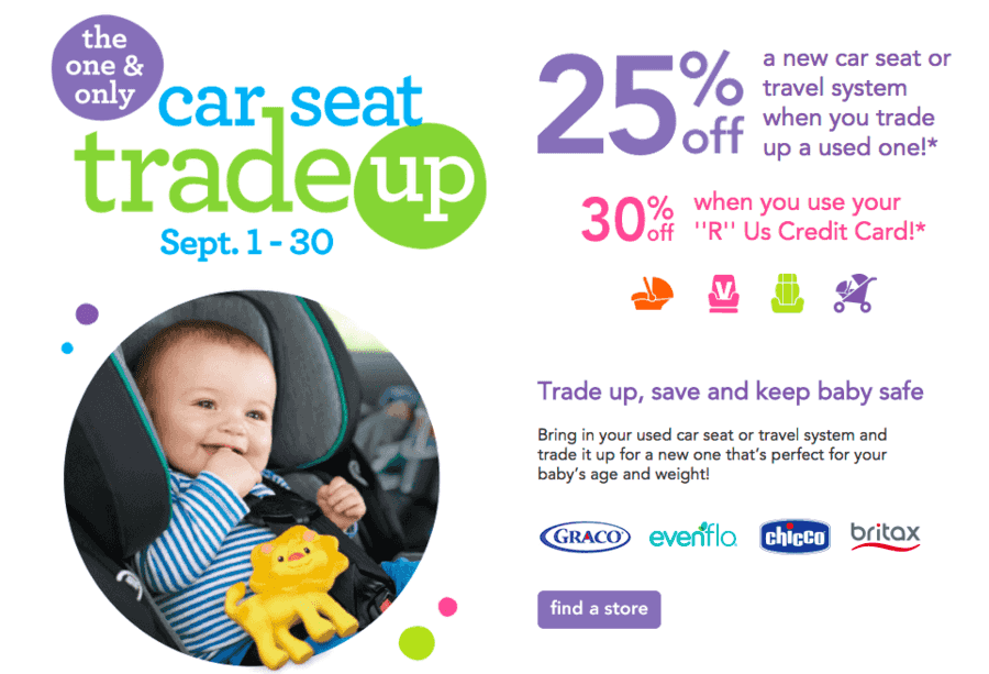Babies R Us Car Seat Trade Up Program Through September 30th