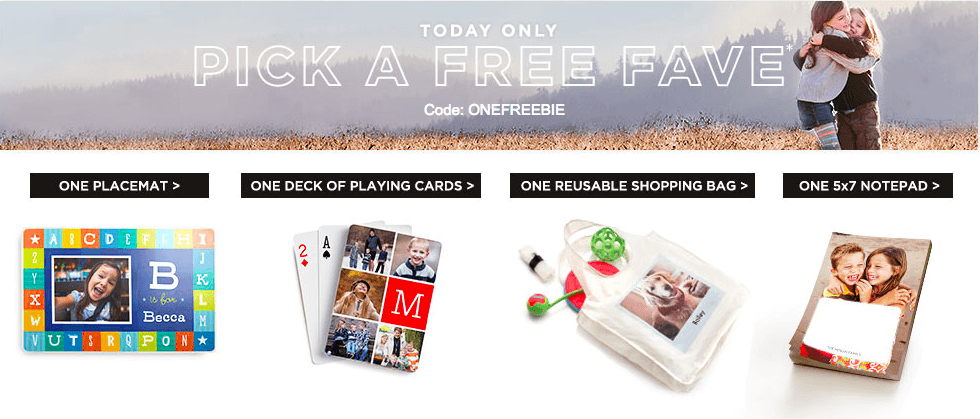 Shutterfly: Pick 1 of 4 FREE Items {Pay Only Shipping}