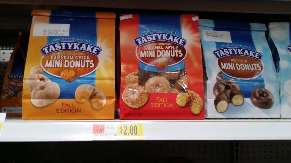Walmart Tastykake Mini Pumpkin Spice Or Caramel Donuts 1