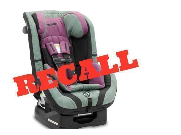 Recall Recaro ProRide Performance Ride Car Seats