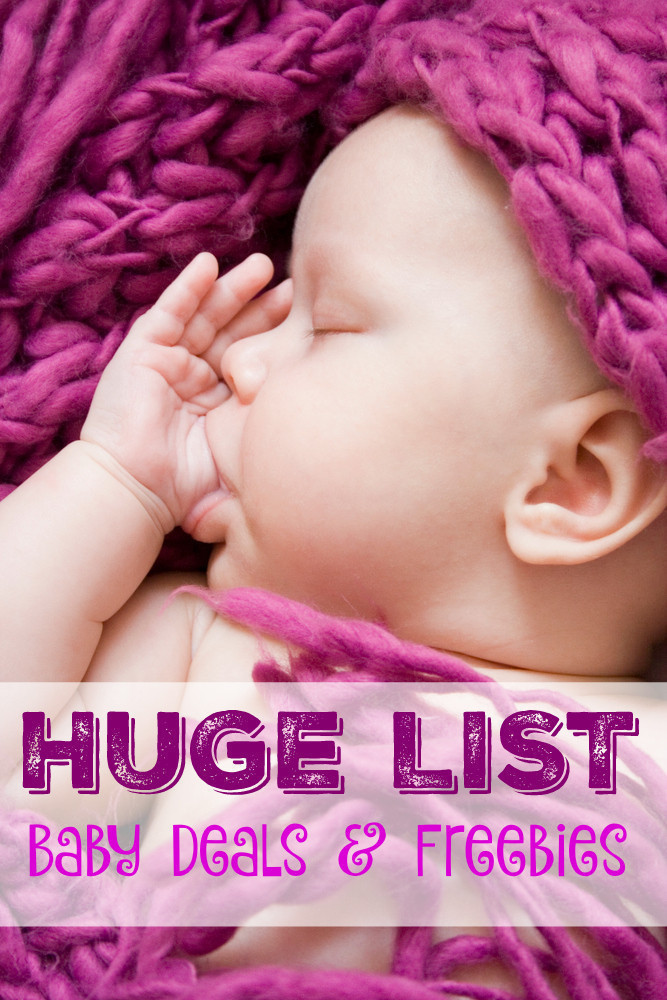 HUGE Round Up of Baby Deals and Freebies