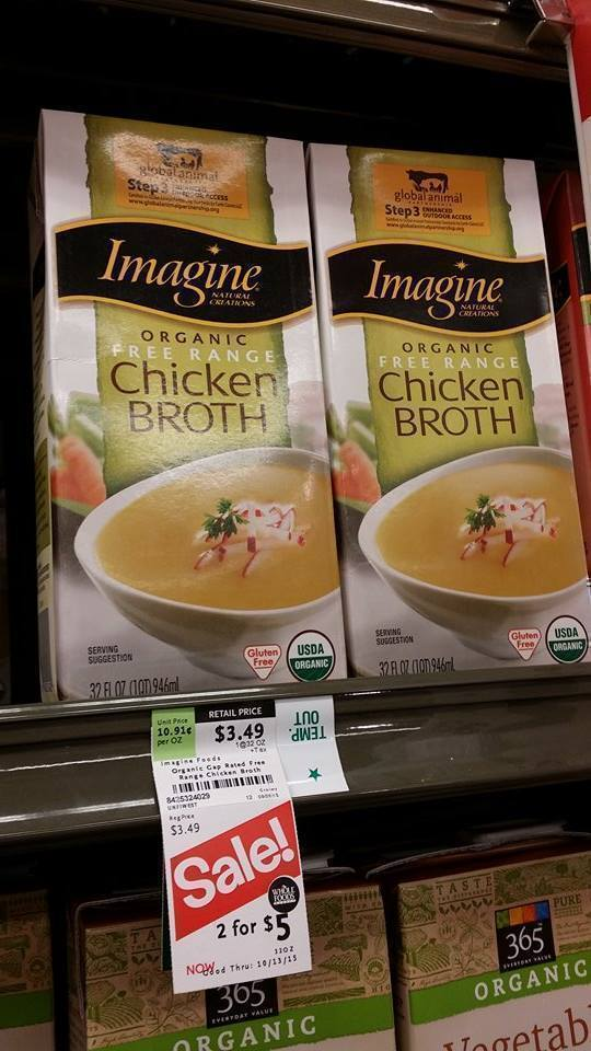 Whole Foods Imagine Organic Free Range Chicken Broth Just 50