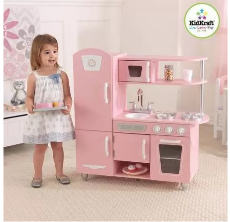 Interesting kidkraft vintage pink kitchen just free pick for Cuisine kidkraft rose
