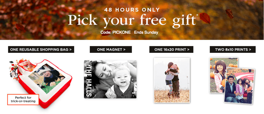 Shutterfly: Choose 1 of 4 FREE Items ~ 48 Hours ONLY