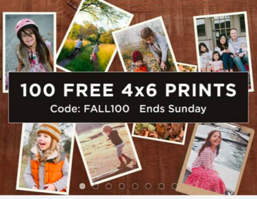 Shutterfly: Up to 100 FREE 4×6 Prints (Pay ONLY Shipping)