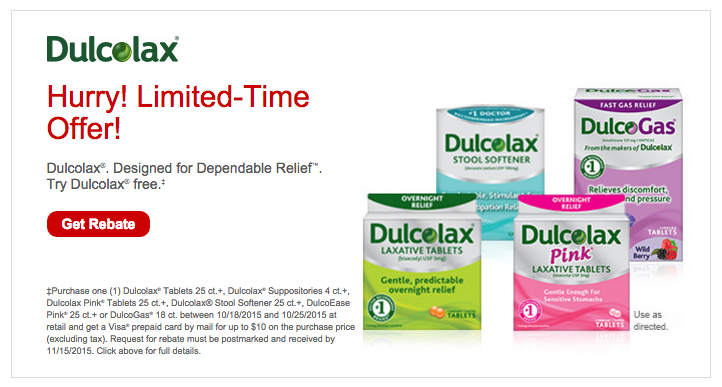 Dulcolax Limited Time Rebate | Try for FREE through 10/25