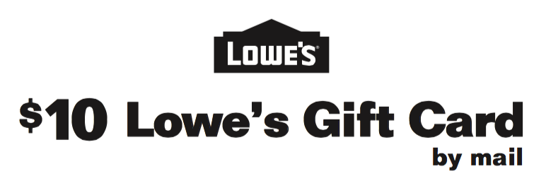 Lowe's:  Earn a $10 Gift Card with Energizer Battery Purchase