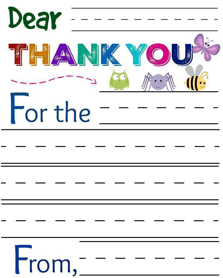 FREE Thank You Cards For Little Kids And Big Kids