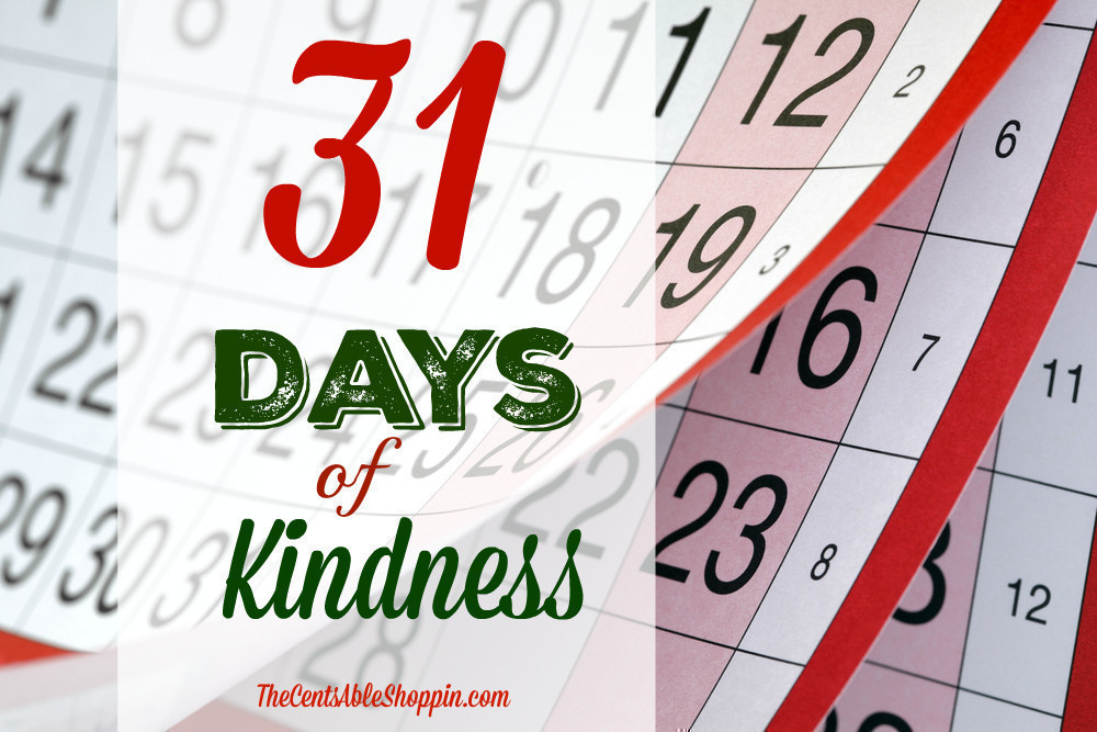 31 Days of Random Acts of Kindness