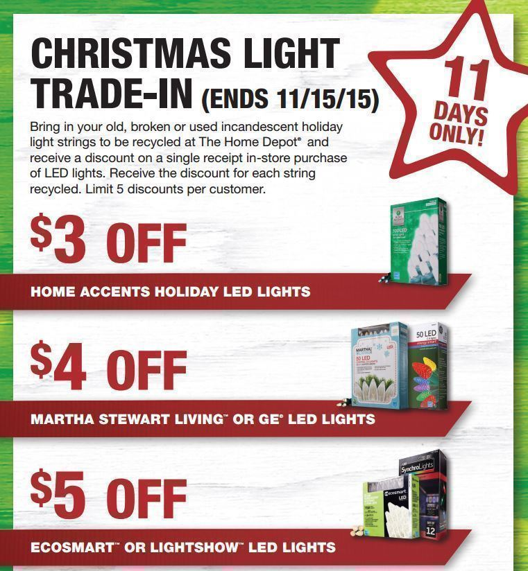 Home Depot Christmas Light Trade-In Through 11/15
