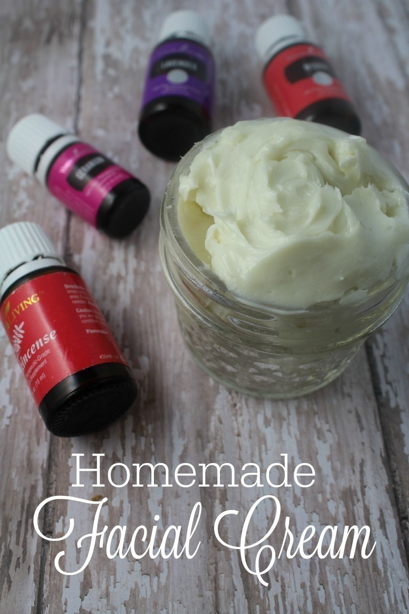 Homemade Facial Cream with Essential Oils