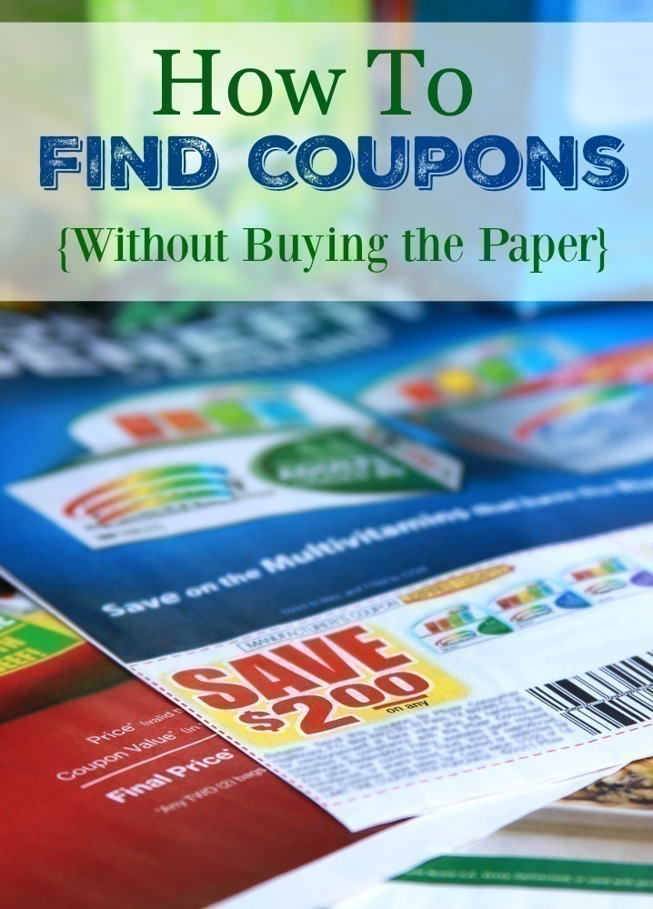 saving coupons with colorful product packages in the background