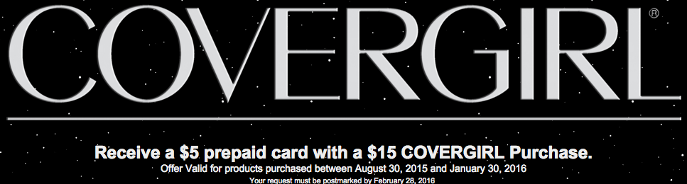 Score a $5 Prepaid Card with $15 CoverGirl Purchase