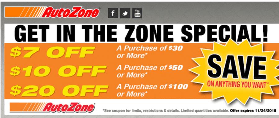 autozone coupons 10 off 30