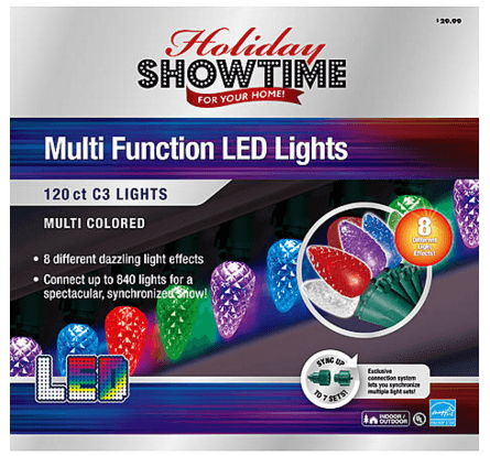 C3 Led Christmas Lights.Kmart Holiday Showtime 120ct Led C3 Christmas Lights 9 44