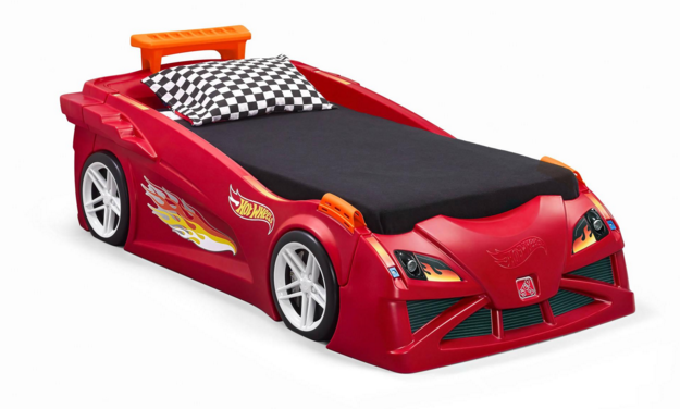 walmart: step2 hot wheels toddler-to-twin race car bed (red) $229