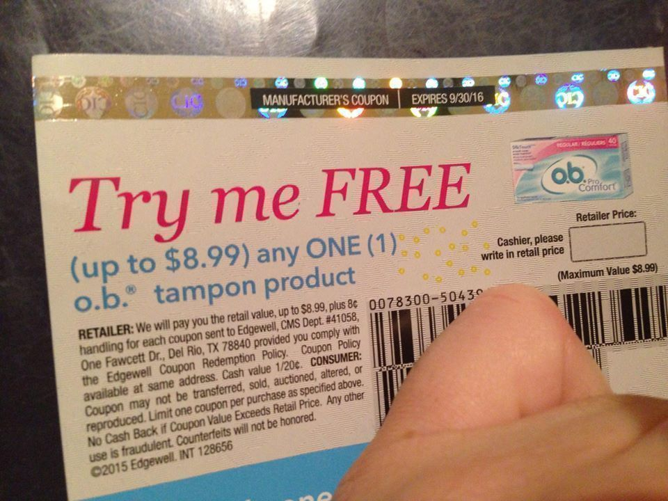 Fry's Mega: FREE o.b. 40 ct Tampons (+ Request a FREE Sample + ...
