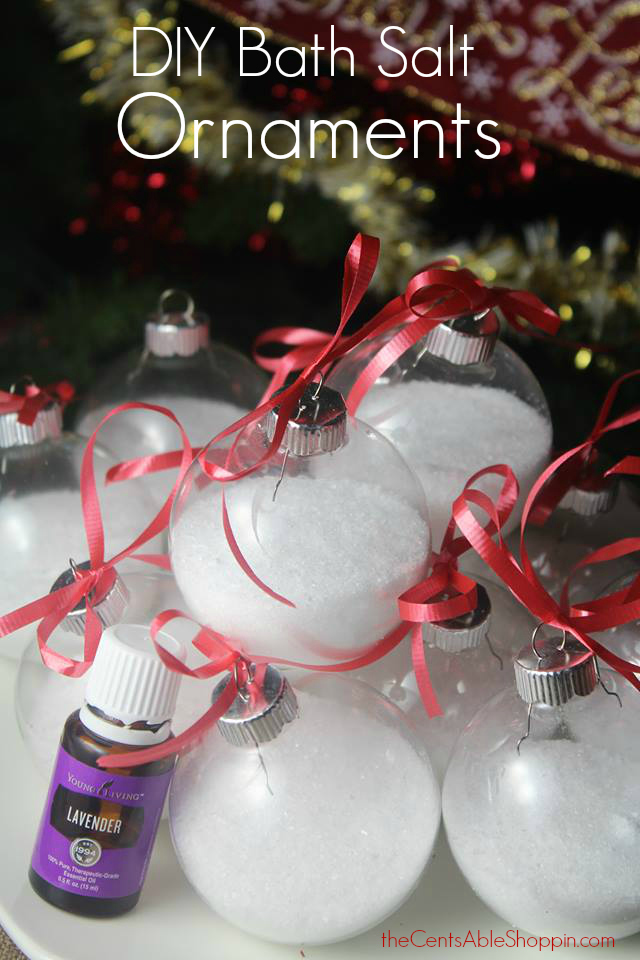 DIY Bath Salt Ornaments {with Essential Oils}
