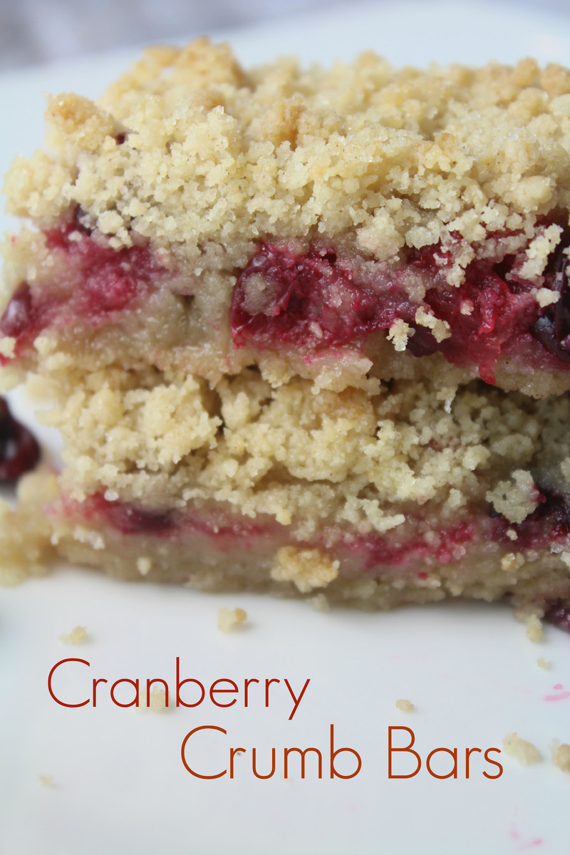 Easy Cranberry Crumb Bars