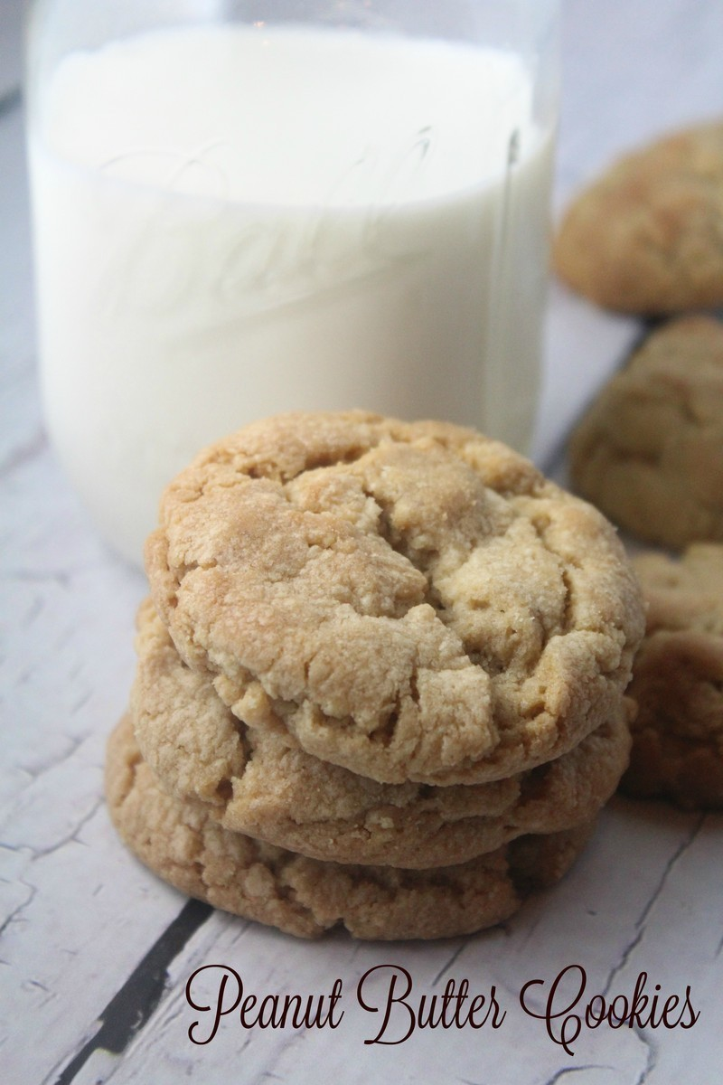 Thick & Chewy Peanut Butter Cookies