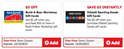 Safeway Gift Card Deals: Hibbett Sports & Build-A-Bear