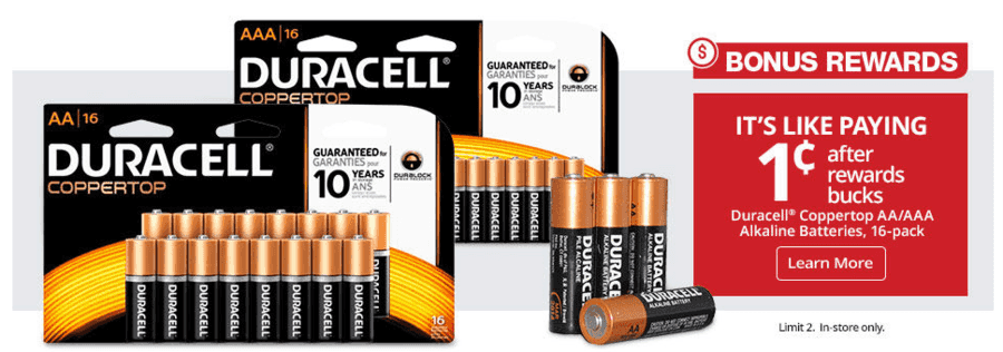 OfficeMax: Duracell 16 ct Coppertop Batteries AA or AAA just $.01