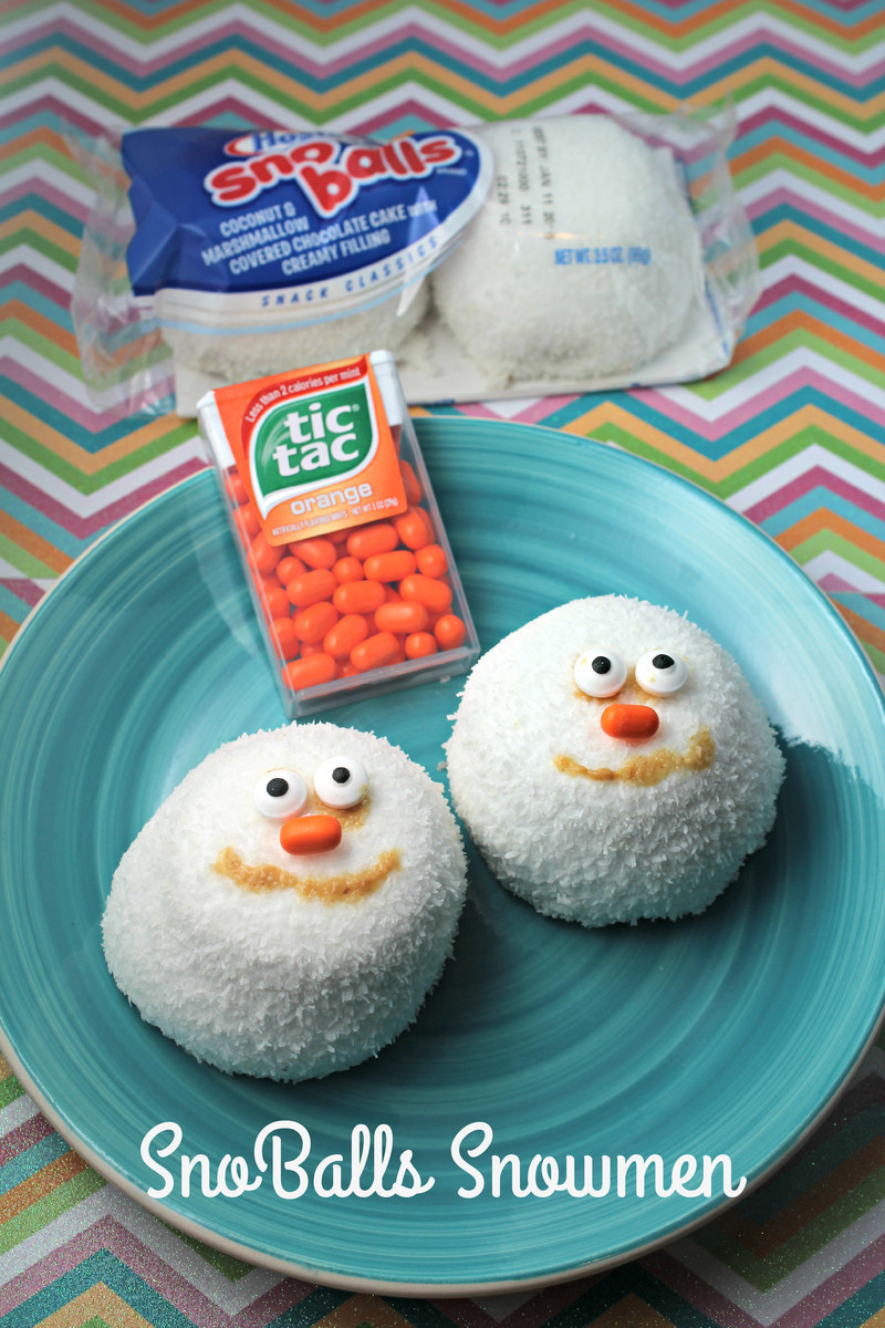 SnoBalls Snowmen (Great Holiday Lunch Surprise for Kids)