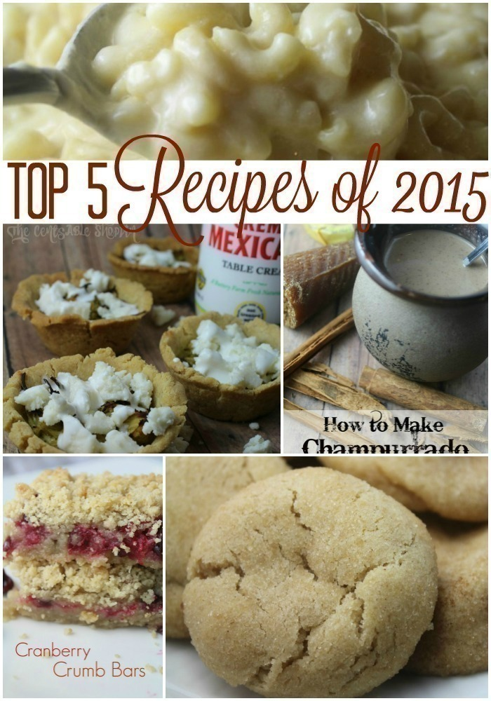 Top 5 Recipes of 2015 (+ This Year's Most Popular Recipes)