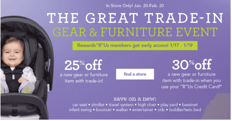 babies r us great trade in event. Black Bedroom Furniture Sets. Home Design Ideas