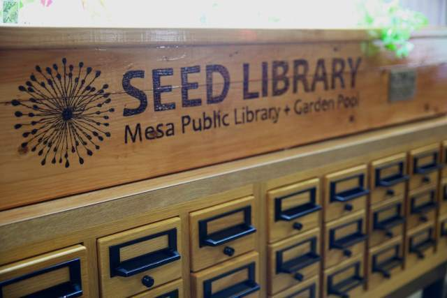 A seed library is a collection of donated (vegetable, fruit & flower) that are available to patrons, or cardholders of the local public library.  A seed library is a wonderful resource if you are looking to plant an urban garden.