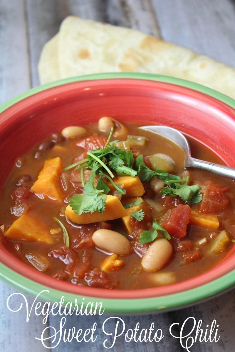 15 Minute Vegetarian Sweet Potato Chili