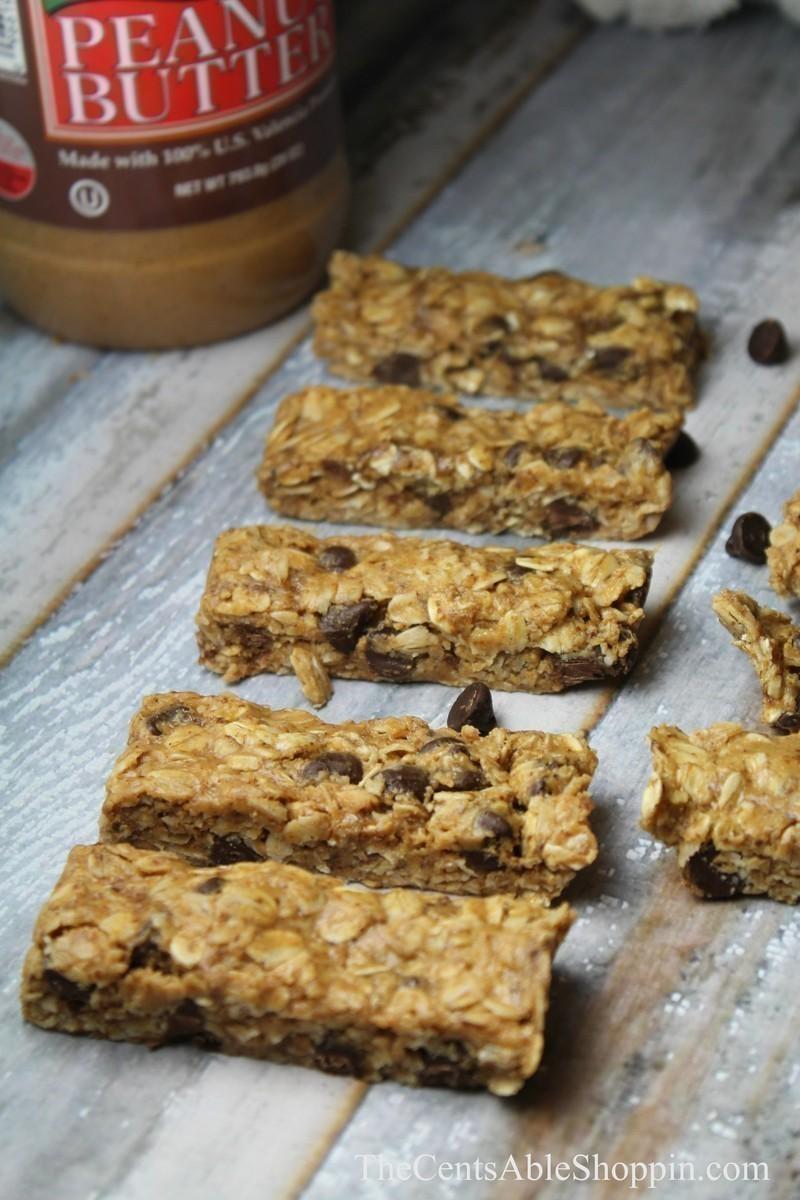 Homemade {No Bake} 5 Ingredient Granola Bars