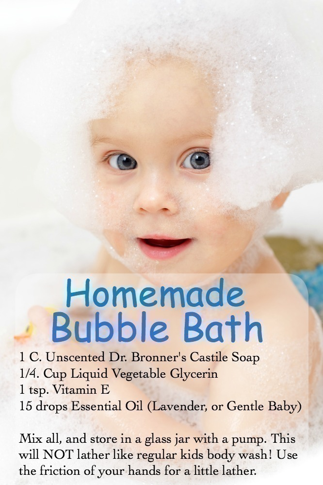 Homemade Bubble Bath for Kids