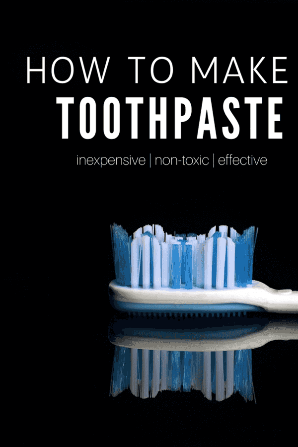 Whip together this easy homemade toothpaste with just 3 simple ingredients!