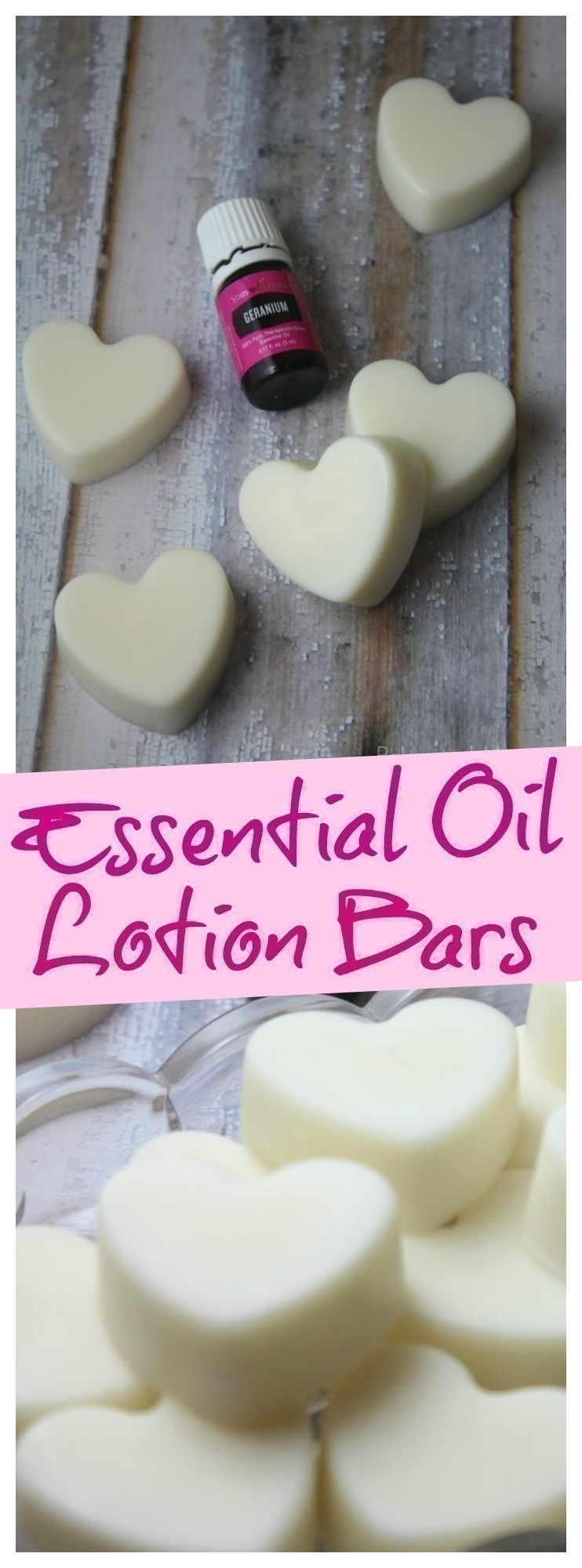 Quick and easy all-natural lotion bars that are perfect to gift and easy to make with organic, unrefined oils and butters. #lotionbars #essentialoil #homemade #DIY #lotion #bars #gift #giftsforher #mothersday #ValentinesDay
