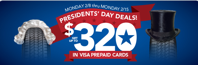 Discount Tire Direct President S Day Deals Up To 320 In Visa