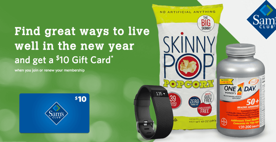 Sam's Club: $10 Gift Card when you Join or Renew your Membership