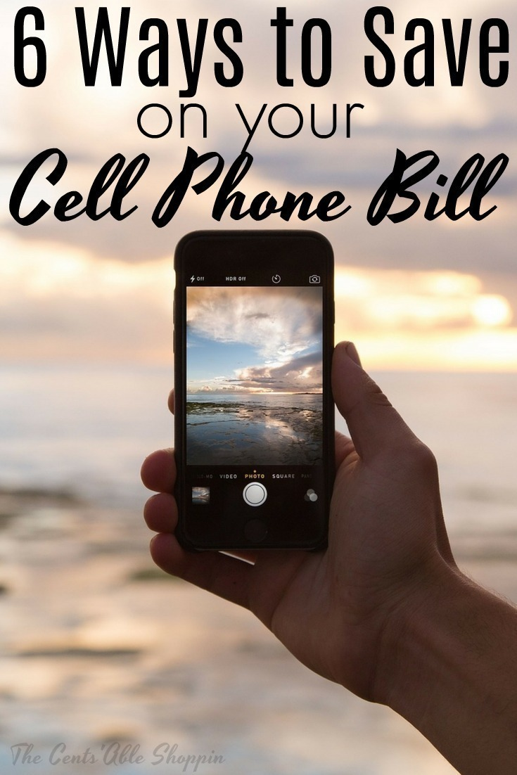 Your monthly phone bill can be one that you love or hate to get each month.  Here are six ways to save HUGE on your cell phone bill!