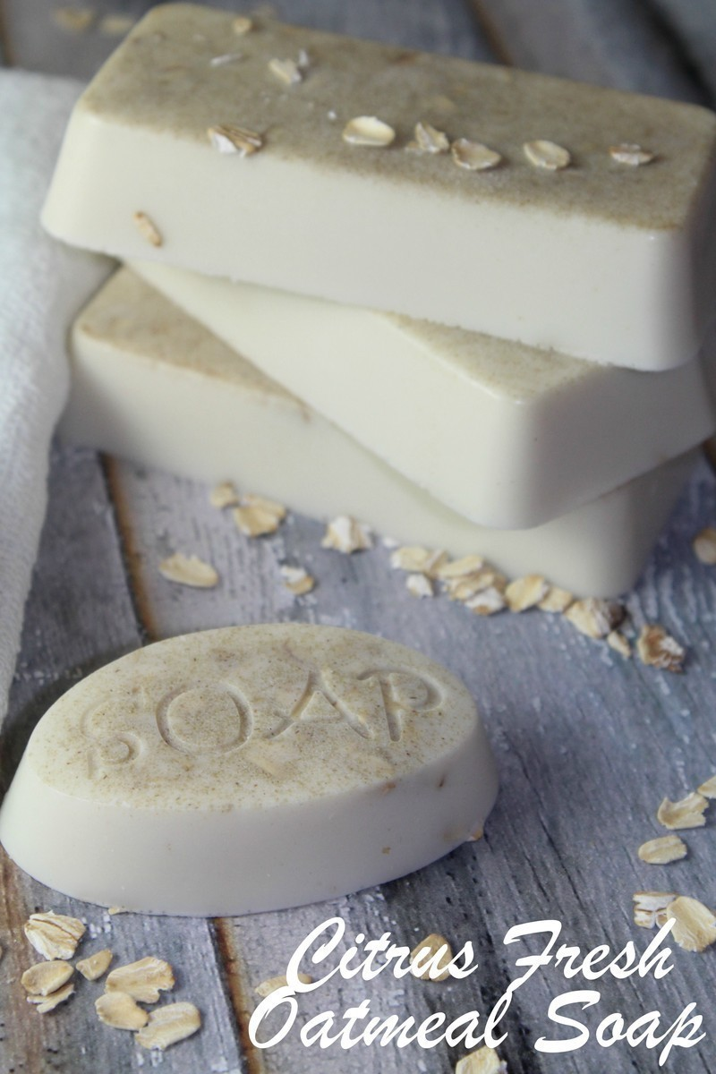 DIY Citrus Fresh Oatmeal Soap