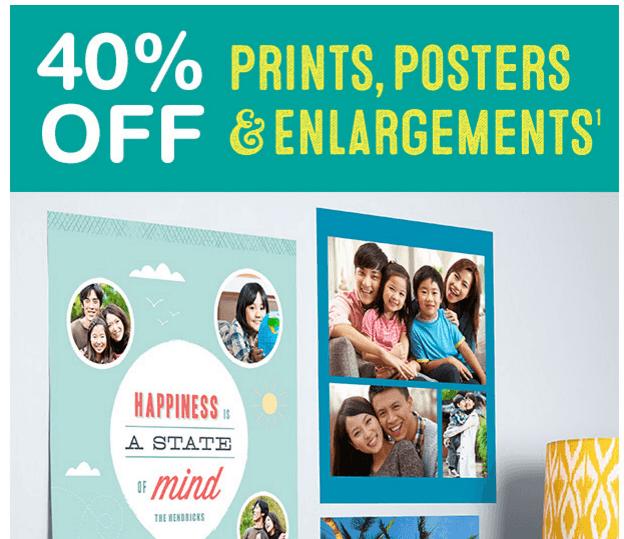 Walgreens: 40% OFF Prints, Posters &