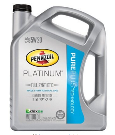 Amazon pennzoil platinum 5w 20 full synthetic motor oil 5 for Pennzoil platinum 5w 20 synthetic motor oil